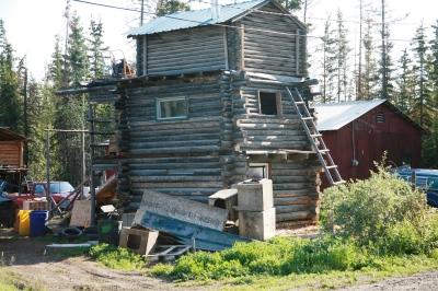 3 story cabin. Fort Yukon Alaska