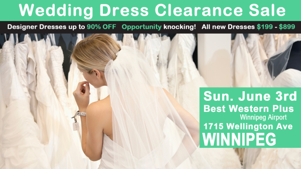 See us at the Opportunity Bridal Wedding Gown clearance! June 3rd 2018