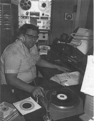 """Mel Simas-Radio Station """"KCOK"""", Tulare, California"""