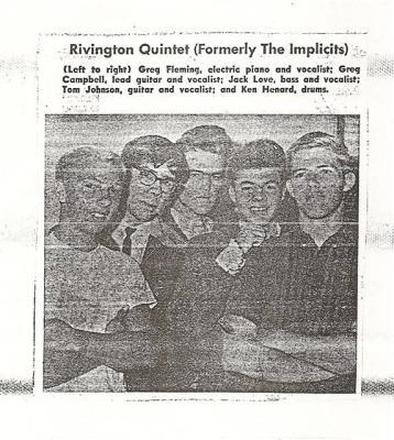 "Rivington Quintet (formally ""The Implicits)"