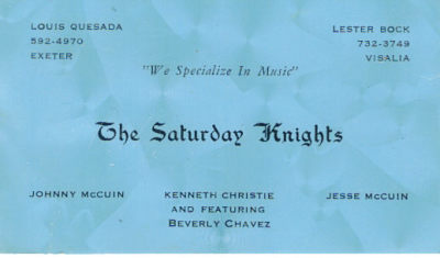 The Saturday Nights - 1965
