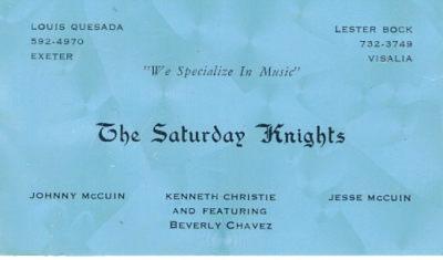The Saturday Nights - 1965