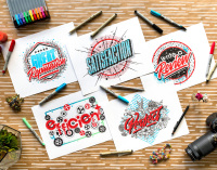 Illustration Hand Lettering Typography concept