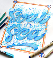 Hand lettering illustration