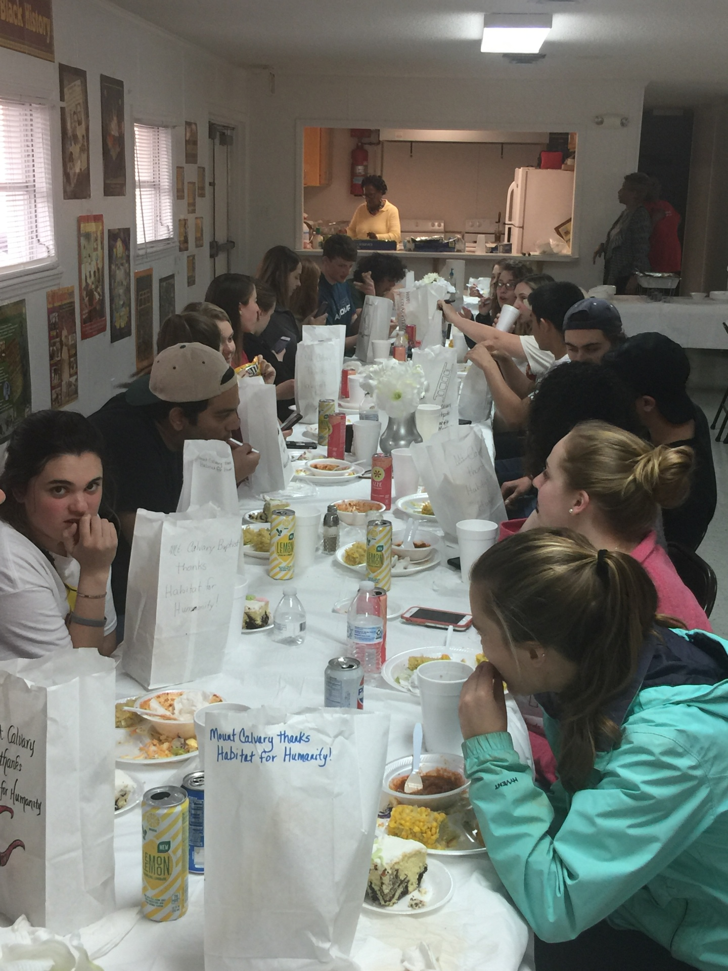 Habitat College Challenge Fellowship Meal
