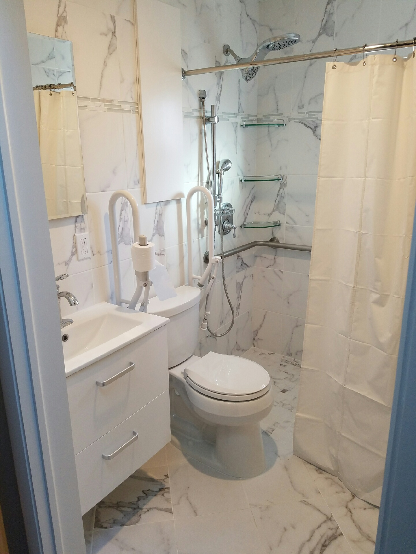 Conversion Tub to Roll-in Shower