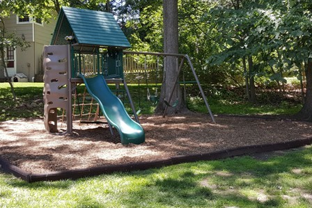 Swingset box  with timberturf safe chips
