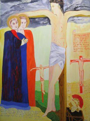 XII. Jesus on the cross; his mother and his friend