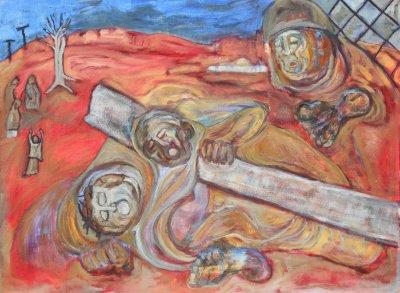 VIII. Simon of Cyrene helps Jesus to carry the cross