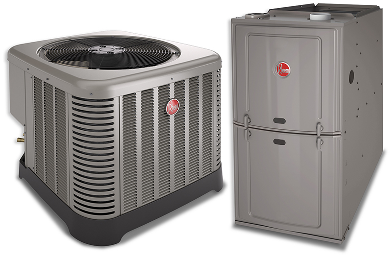 RHEEM heating and cooling system