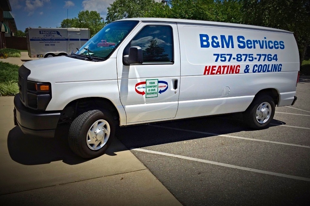 heating and air conditioning Deltaville van
