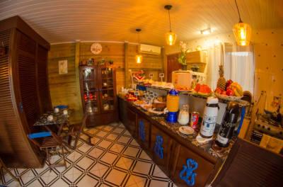 Salão de café  Pousada chale dois amores