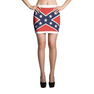 Rebel Flag Mini Skirt