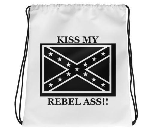 Kiss my Rebel Ass Drawstring Bag