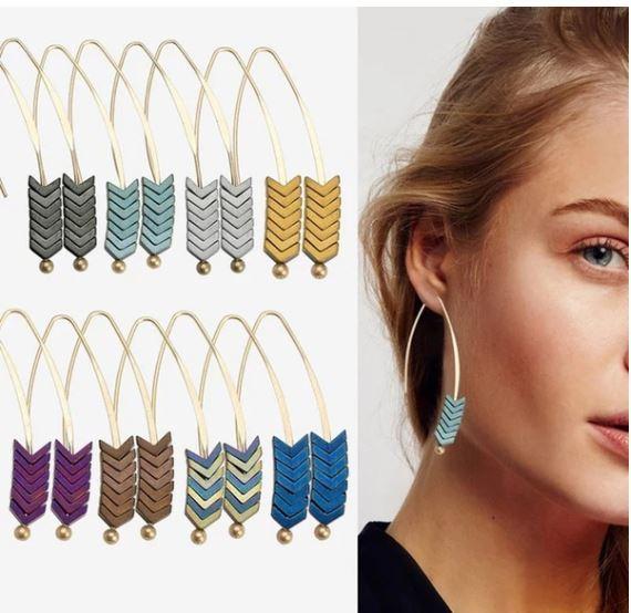 Arrow Drop Dangle Earrings