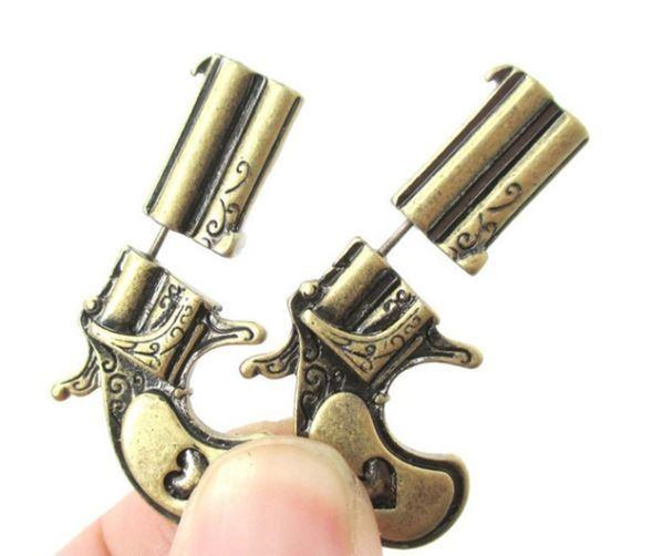 Pistol Earrings (faux-gauge)
