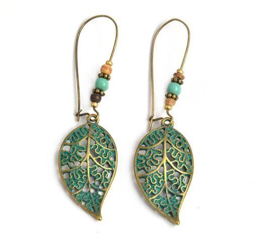 Hollow Leaf Dangle Earrings