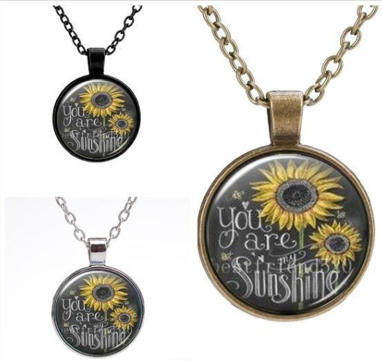 Sunflower Pendant Necklace