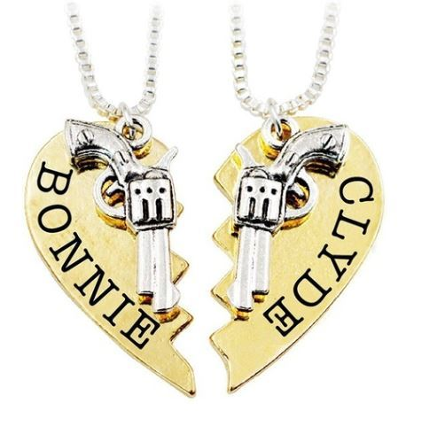 Bonnie and Clyde BFF Necklace