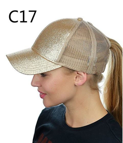 Ponytail/Messy bun Trucker hat  Click for options and colors