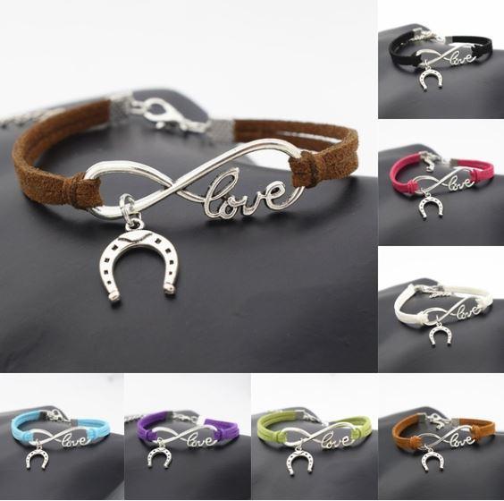 Horseshoe infinity bracelet
