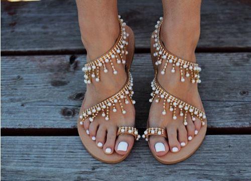 Pearl Drop Sandal