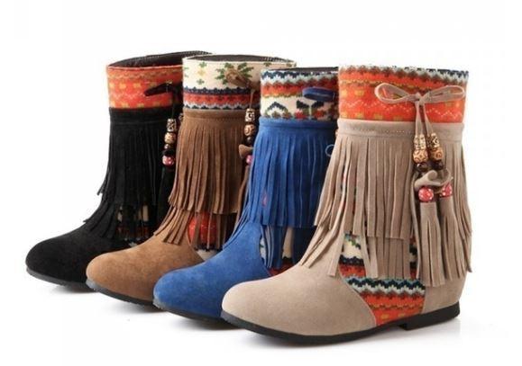Navajo Geo Fringe Bootie