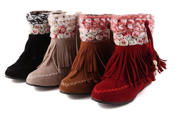 Rose Moccasin Bootie