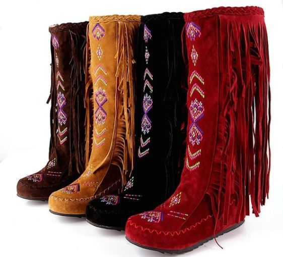 Embroidered Moccasin Boot