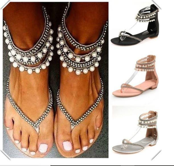 Boho Pearl Sandal