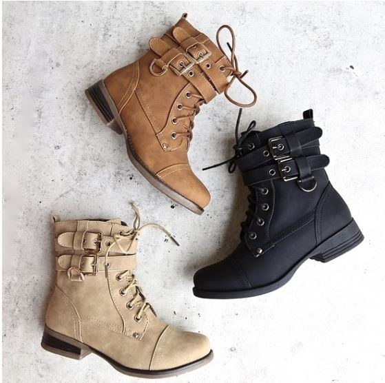 English Lace up Booties