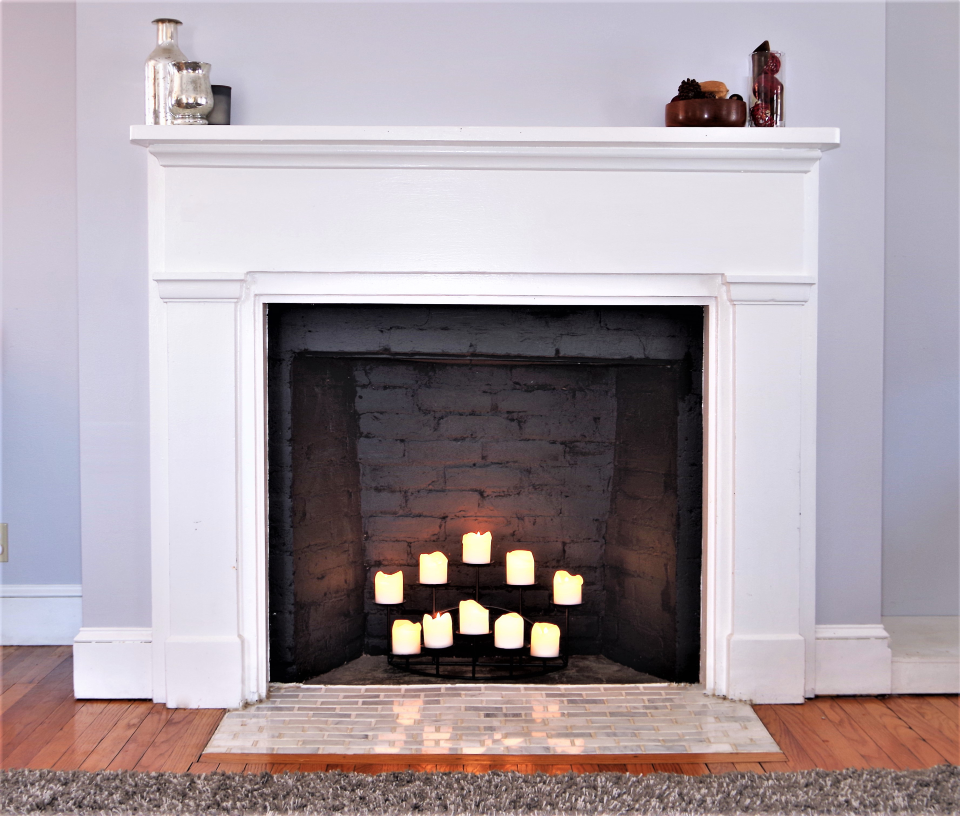 First Floor Decorative Fireplace