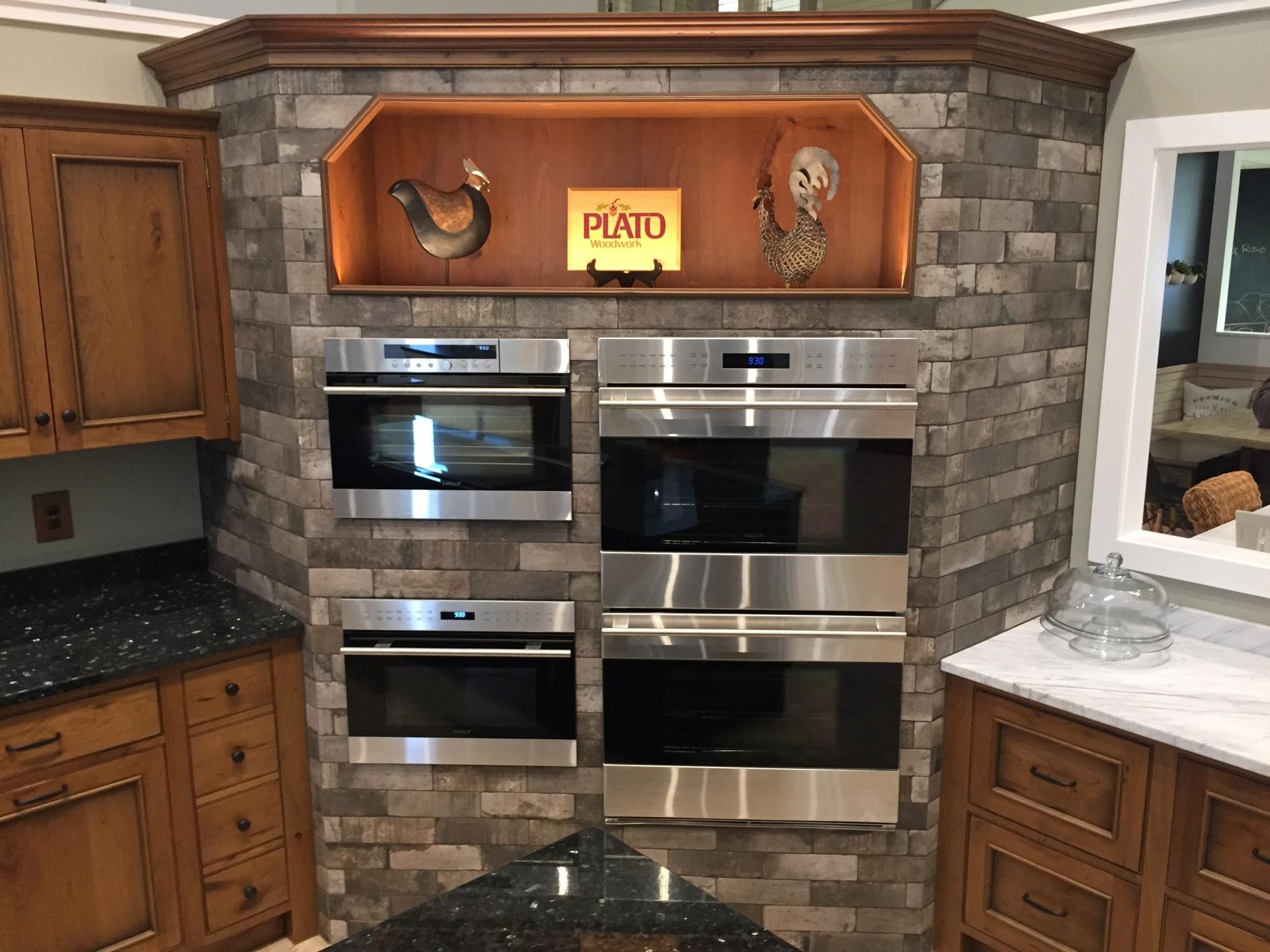 Tiled Oven Wall
