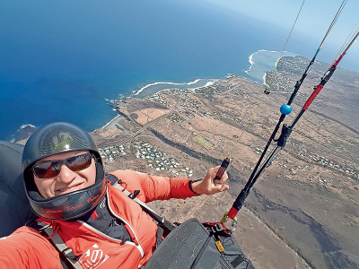 3 May: Andre Rainsford-Alberts: Paragliding across the world