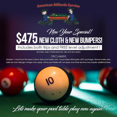 American Billiards Service Inc  Denvers Pro Pool Table