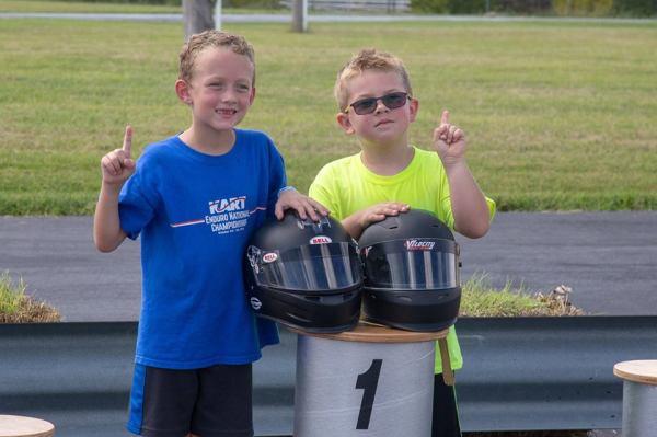 Kid Kart Winners: Davis Henry and Clayton Monteil
