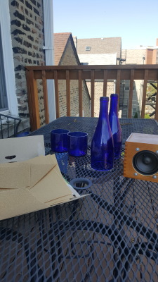 Spring Project - Bottle Cutting Candle Lanterns for the Porch