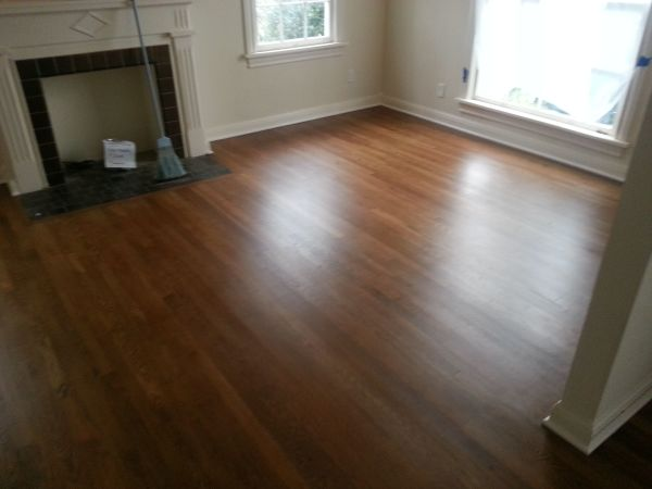 Refinished white oak