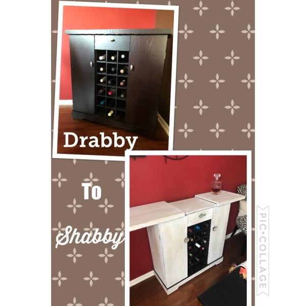Small bar cabinet refurbished