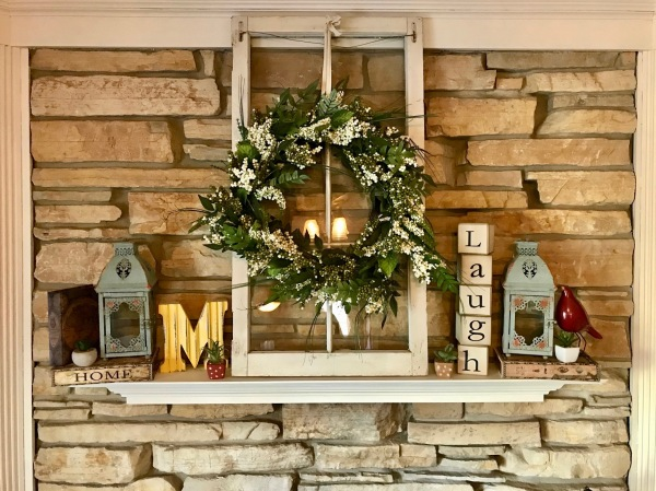 Our mantel at home spring update