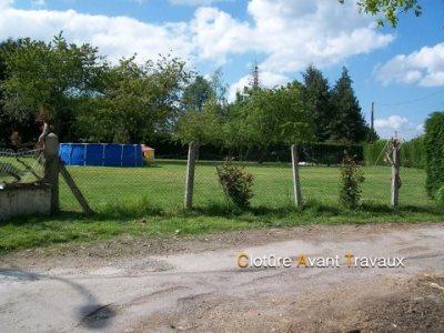 Changement de clôture avant travaux