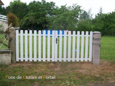 Changement de clôture et pose de portail après travaux