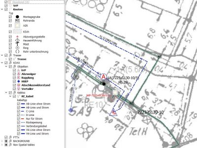 Telekommunikationsinfrastruktur-GIS-QGIS