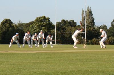 President's XI 2009 - Cutting off Reedy's shot