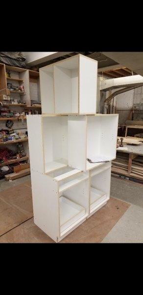 CUSTOM CABINETS BOXES WHITE MELAMINE