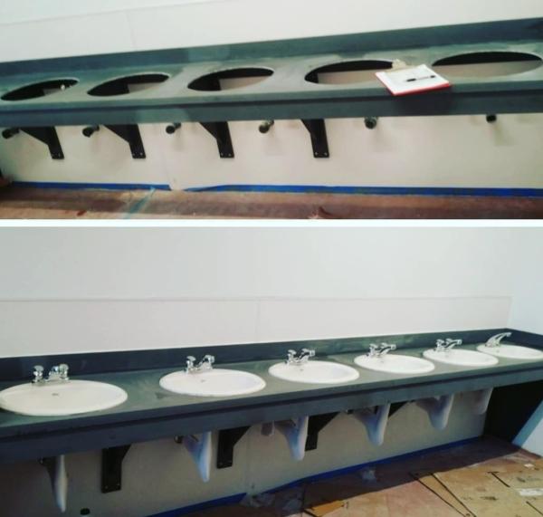BATHROOM VANITY CORIAN TOP