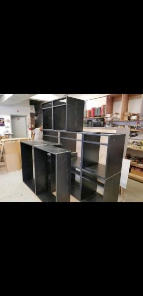 BLACK MELAMINE CABINET BOXES