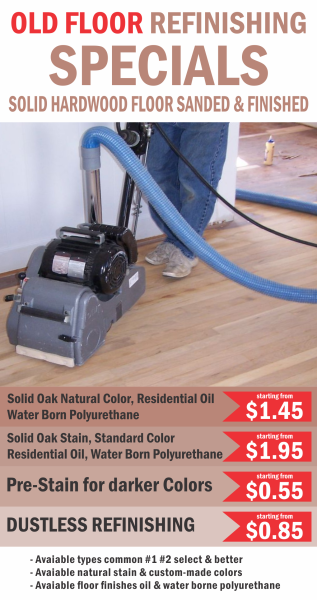 Old floor refinishing specials