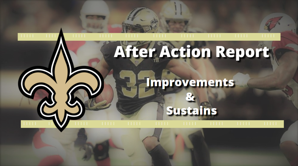 New Orleans Saints: Preseason Week 2 After Action Report - Improvements & Sustains