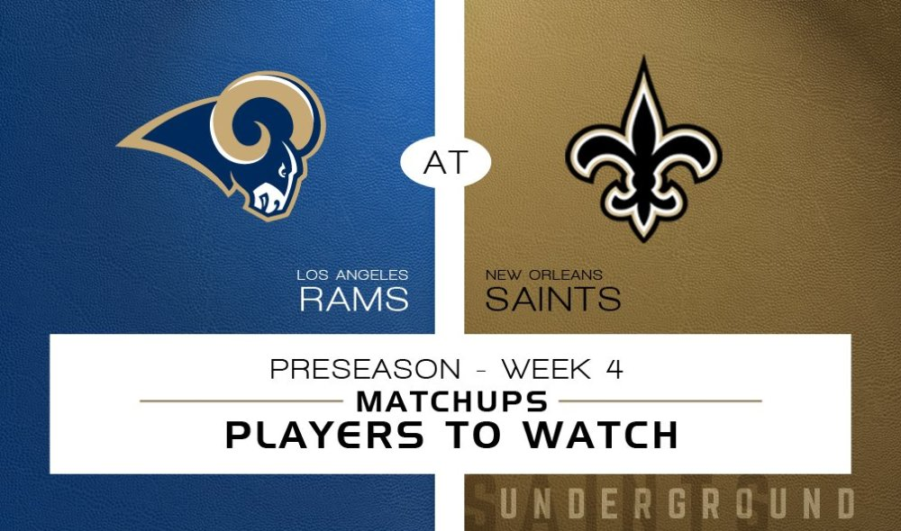 New Orleans Saints vs. Los Angeles Rams: Matchups & Players to Watch